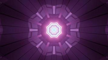 motif géométrique violet brillant avec des lignes de néon illustration 3d