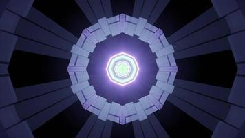 illustration 3d de modèle de style futuriste géométrique