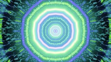 Illustration 3D de néons multicolores qui brillent dans le labyrinthe photo