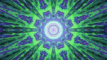 ornement géométrique avec illustration 3d de rayons brillants