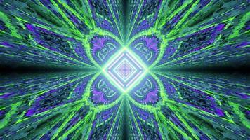 3d illustration du motif en forme de fleur géométrique artistique