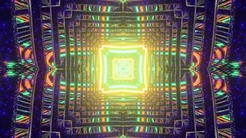 Labyrinthe à plusieurs étages coloré abstrait en illustration 3d photo