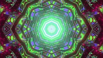 3d illustration du labyrinthe ornemental avec motif kaléidoscope photo