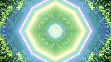 3d illustration du tunnel avec ornement géométrique