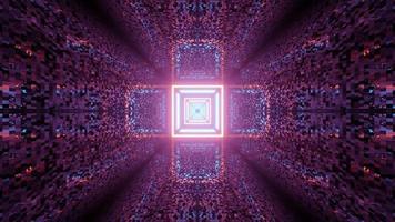 Illustration 3D du motif en forme de croix géométrique avec néons photo