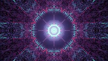 ornement futuriste brillant avec illustration 3d de conception géométrique