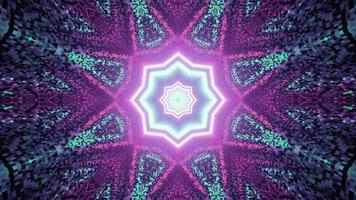 motif texturé abstrait avec des néons en illustration 3d