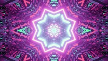 illustration 3d de tunnel en forme d'étoile abstraite
