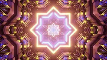 illustration 3d d'ornement en forme d'étoile surréaliste