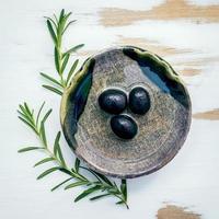 vue de dessus de l'huile d'olive photo