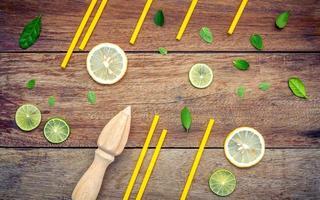 concept de limonade fraîche photo