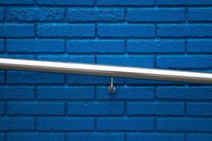 fond texturé de mur bleu photo