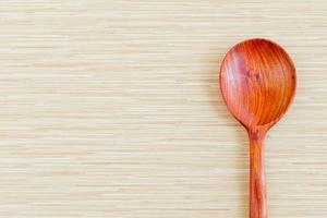 cuillère en bois et espace copie