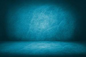 studio de ciment bleu et fond de salle d'exposition pour l'affichage ou la présentation photo