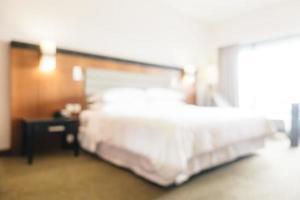 Intérieur de la chambre à coucher abstraite défocalisée photo