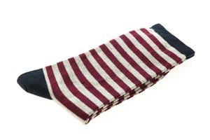 paire de chaussettes en coton sur fond blanc photo