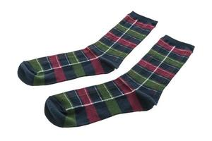 chaussettes en coton sur fond blanc photo