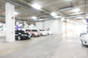 fond de garage défocalisé