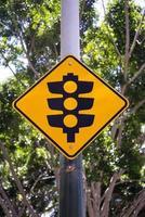 signe de feux de circulation photo