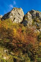 Gorges du Danube à Djerdap à la frontière serbo-roumaine photo