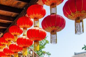 lanternes chinoises à l'extérieur