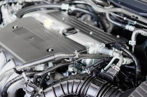Coup de détail de moteur de voiture photo