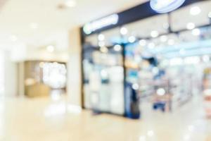 Abstrait intérieur du centre commercial défocalisé pour le fond photo