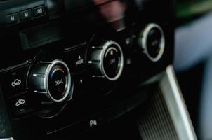panneau de commande dans une voiture photo