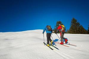 pistes de ski de randonnee photo