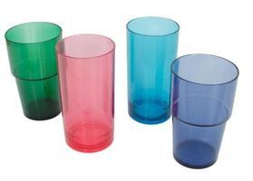 gobelets en plastique colorés photo
