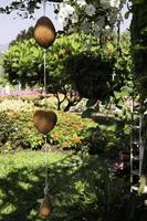 décorations de jardin suspendues à l'extérieur photo