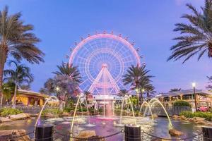 Orlando, Floride, USA 2016 - L'Oeil d'Orlando est une grande roue de 400 pieds de haut au cœur d'Orlando et la plus grande roue d'observation de la côte Est