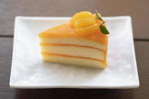 gâteau à la crème de confiture d'orange