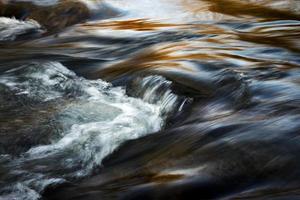 longue exposition d'une rivière le soir photo