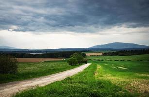 route dans une campagne photo