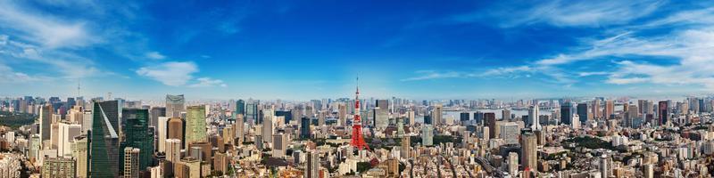 Paysage urbain de tokyo japon, asie photo