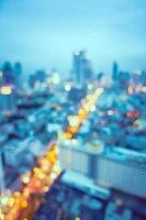fond flou de la ville de bangkok photo