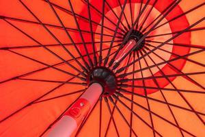 surface et textures abstraites de parapluie rouge photo