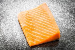 viande de saumon cru photo