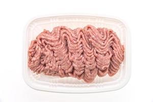 viande de porc hachée crue