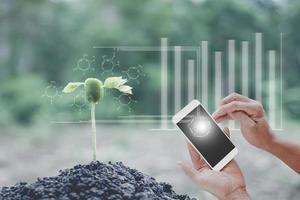 technologie d'innovation pour la biologie intelligente, la bio, le système, la gestion de l'agriculture photo