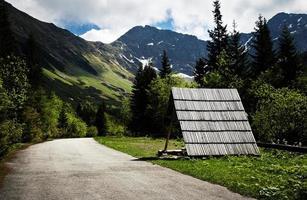 paysage de montagne printanier avec un pic photo