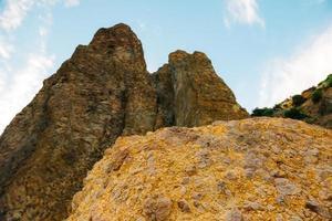 les montagnes du cap fiolent en crimée photo
