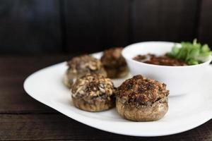 champignons à la viande photo