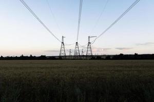 ligne électrique haute tension