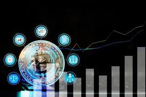 Bitcoin, concept de réseau de paiement innovant photo