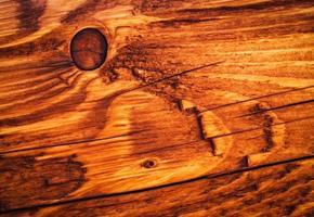 Détail d'une planche de bois marron photo