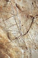 Détail d'une ancienne surface calcaire photo