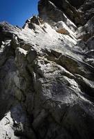 falaises rocheuses de calcaire photo