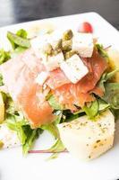 salade de saumon fumé